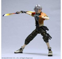 Hope Estheim Play Arts Kai Square Enix's creation of the figure has it wearing it's original outfit from the first appearance, orange jacket, dark green pants,