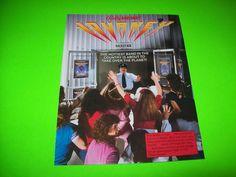 JOURNEY By BALLY MIDWAY 1983 ORIGINAL VIDEO ARCADE GAME PROMO FLYER BROCHURE #journeyvideogame #ballymidway #videogameflyer