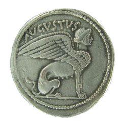 Augustus / Sphinx Roman Imperial AR Cistophoric Tetradrachm | Coin Replicas