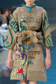 Fashion upcycling at it most haute ! Maison Martin Margiela Details HC F/W '15