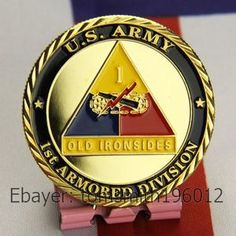 Army 1st Armored Division Military Challenge Coin 378 | eBay