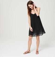 LOFT Beach Tasseled Strappy Dress | Loft