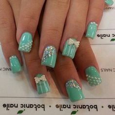 Turquoise pretty nails