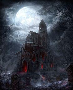 Dark Fantasy Art, Fantasy World, Fantasy Places, Dark Castle, Pandora, Dnd Art, Studio Backdrops, Dark Places, Chapelle