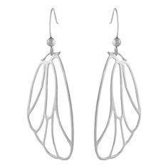 Silver Butterfly Hook Earrings - Fleur Envy Jewellery - Private sales | BrandAlley