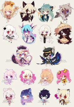 Total CC Count: 111 busy busy~ for the third row, I couldn't find a chibi that I had done that looked right next to those couple chibis xD those were so. Chibi Kawaii, Manga Kawaii, Cute Anime Chibi, Cute Anime Guys, Chibi Characters, Cute Characters, Cute Kawaii Drawings, Cartoon Drawings, Manga Art