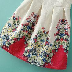 Sweet Floral Printing Sleeveless Vintage Skater Dress