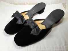 1960's Black Velvet Genies Slippers...  Vintage by Beadgarden55, $28.00