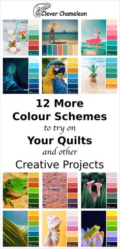 Colour Inspiration Tuesday collection 2 from Clever Chameleon Quilting Tools, Quilting Designs, Quilting Ideas, Colour Schemes, Color Combos, Pattern Blocks, Quilt Patterns, Colour Inspiration, Color Pallets