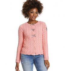 canal cardigan LIGHT CORAL