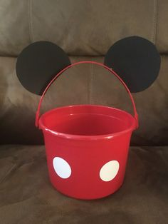 Mickey Mouse Party Buckets by AveryAyla on Etsy https://www.etsy.com/listing/448871426/mickey-mouse-party-buckets