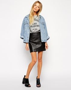 Enlarge ASOS Mini Skirt in Leather