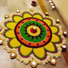 Rangoli decoration for diwali