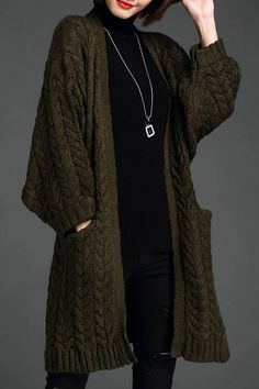 Cable Knit Batwing Sleeve Cardigan Click on picture to purchase!