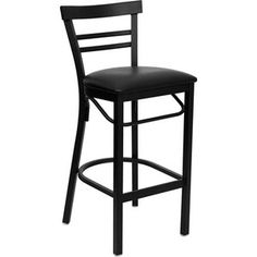 "Metal Ladder Back Bar Stool 31"", Black - from walmart, $55.03"