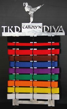 Tae Kwon Do Belt display 10 level #karate #martial-arts-belt-display #personalized