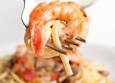 Angel Hair pasta with lemon, garlic, shrimp For recipe see: http://www.reluctantgourmet.com/recipes/pasta/item/243-pasta-recipe-with-lemon-garlic-and-shrimp