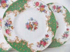 China Dishes | Vintage china plates 4 Paragon Rockingham tea by peonyandthistle