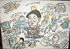 The cartoon produced on-the-spot at the Neil Innes Chattoon!
