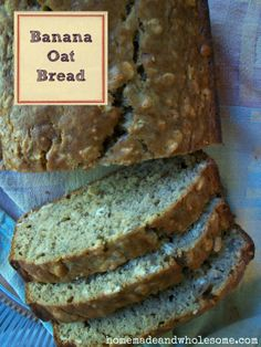 Banana Oat Bread - Tried this! It was really good.  I substituted 1/2 of greek yogurt for the two eggs and added chocolate chips. :)