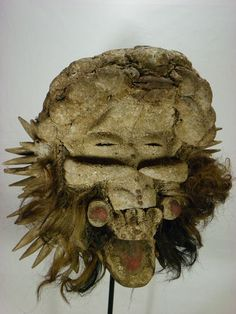 Auctions ends today come visit www.amazingafricanart.com  Fearsome African Tribal Mask Dan GUERE Ceremonial WARRIOR Mask