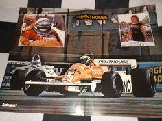 PENTHOUSE ARROWS A4 F1 GP & PORSCHE 935 JOEST MOMO IMSA GTX 2-SIDED POSTER 1981
