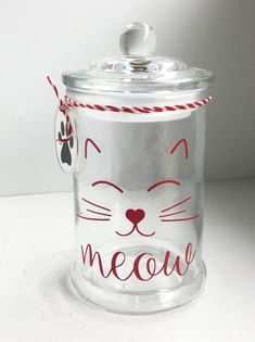 Hey, I found this really awesome Etsy listing at https://www.etsy.com/listing/504632072/personalized-cat-treat-jar-cat-treat