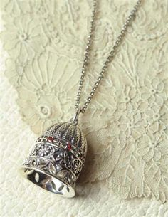 Sterling Silver Bell Necklace from Victorian Trading Co.
