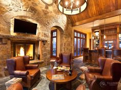 great room bars | Wet Bar between great rooms and bedroom on the main floor at Hood Park ...
