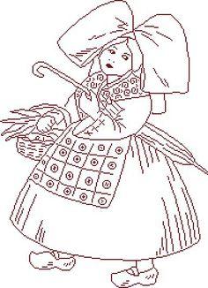 Broderie alsacienne au point de tige - Rien ne sert de courir... | Embroidery | Embroidery ...