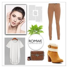 """""""White romwe contest !"""" by ninamarble ❤ liked on Polyvore featuring AG Adriano Goldschmied, Valentino and Timberland"""