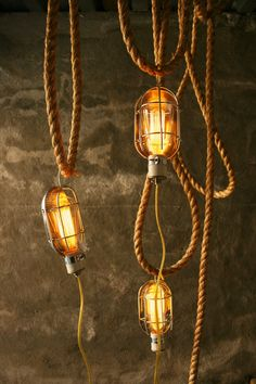 Industrial Cage Light Lamp Lamps Cool Gifts for Men Lamp Hanging Light Mens Gifts by Luke Lamp Co.