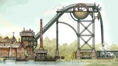 Baron 1898 roller coaster dives into haunted gold mine - Efteling Theme Park, Netherlands