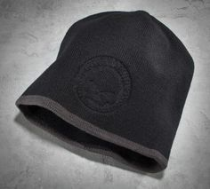 These days knit hats are worn for so much more than warmth, they are an extension of your style and personality. H-D® knit hats combine functional properties with distinct styling for a edgy and customized look.