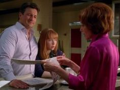 Nathan Fillion, Molly C. Quinn, and Susan Sullivan in Castle (2009)