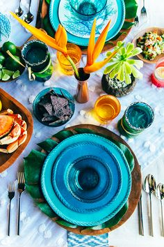 Tropical Tabletop with Pottery Barn
