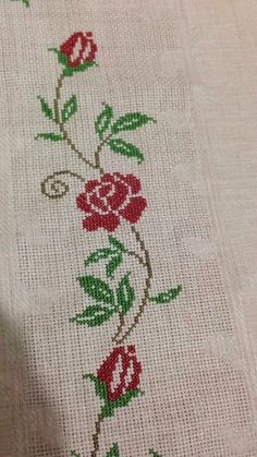 This Pin was discovered by Şük Butterfly Cross Stitch, Cross Stitch Borders, Cross Stitch Flowers, Cross Stitch Patterns, Embroidery Bags, Cross Stitch Embroidery, Embroidery Designs, Palestinian Embroidery, Crochet Quilt
