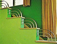 Camac: Art Deco: Theme: Interior, Davis Hotel, Miami Beach, Florida From Tropical Deco Interior detail of David Hotel From the book:Davis Hotel - 1020 Washington Avenue Miami Art Deco, Bauhaus, Art Deco Schmuck, Schmuck Design, Art Nouveau Arquitectura, Art Pastel, Home Interior, Interior Design, Interior Ideas