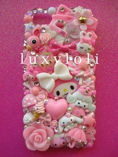 Sweet Pink iPhone 5 Decoden Phone Case