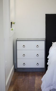 Rast hack - like the color combo + slightly nautical or whimsical drawer pulls?