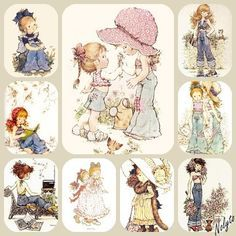 Sara Key Sarah Key, Pretty And Cute, Pretty Art, Sara Key Imagenes, 3d Pictures, Holly Hobbie, Pretty Dolls, Colouring Pages, Vintage Cards