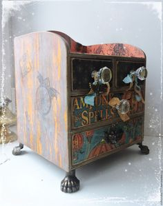 "Buy ""Mystical Steampunk"" - a mini-dresser - combined, steampunk, mystical steampunk, steampunk mini-dresser"