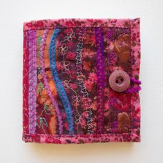 Rose Needle Book - Gift for someone who loves to sew - Deep Pink Needlebook