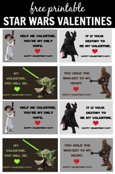 star wars valentines day cards printable 4 free printable valentines for you to download - Isabella Valentine Free