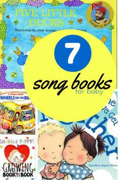 Favorite books of songs for babies from growingbookbybook.com