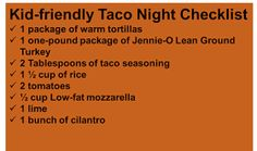 Taco Night Tips