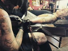 KatVonDItaly , KatVonD , Tattoo Girl , High Voltage Tattoo , Kat Von D , Rings , Hands , Cross , Fashion , Skull , Dark , Vegan , Food , Kitty , Hair , Roses , MakeUp , Beauty , Katvondbeauty , Ink Girl , Vegan , Sephora , Art , Timothy Hung