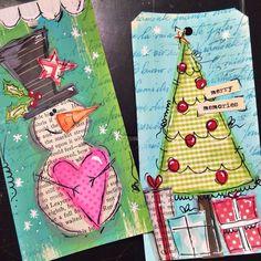 Starting my Christmas tags