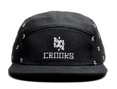 Bones Paisley 5 Panel Cap by CROOKS AND CASTLES