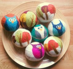 Artistic Wool Dryer Balls - Eco-friendly products, cloth diapers and other natural products in Kitchener, Ontario, Canada